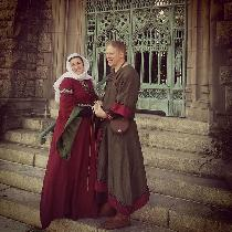 My lord and I, portraying a couple of the late 11th Century, at a Twelfth Night event held at a ...