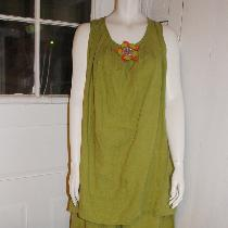 Tina Givens Beatrice tunic and Cara pant in middle weight oasis linen...
