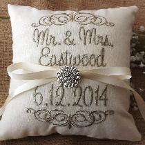 Perfect keepsake for after the wedding.  Use on your bed to remember your special day. www.etsy....