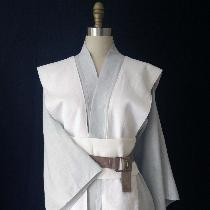 This is a commissioned Jedi Over Tunic, Tabard and Obi.Made from mid-weight Dove and Optic White...