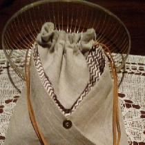 Japanese purse in natural linen....