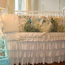 "I made this Linen Crib Bedding using the IL019 in the color ""Bleached"".  The medium weight is wo..."