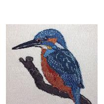 KINGFISHER - designed and stitched by myself using doggie bag pieces...