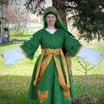 Front of the Ottoman Pants, shirt, hirka and Entari- with Reverse Applique...