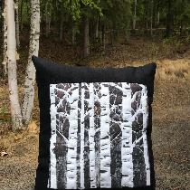 "mid weight linen, 15"" X 16"" pillow with a hidden zipper. I printed front panel with permanent fa..."