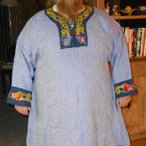 This is a  basic tunic outfit.He requested an overtunic and under tunic. He also requested pants...